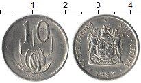 Изображение Монеты ЮАР 10 центов 1983 Медно-никель XF