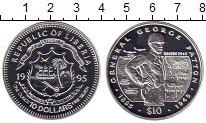 Изображение Монеты Либерия 10 долларов 1995 Серебро Proof-