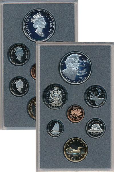 Изображение Подарочные монеты Канада Генри Гудзон 1995 Серебро Proof Подарочный набор пос