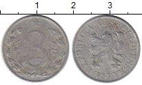 Изображение Монеты Чехия Чехословакия 3 хеллера 1953 Алюминий VF