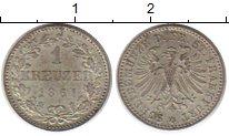 Изображение Монеты Германия Франкфурт 1 крейцер 1861 Серебро XF+