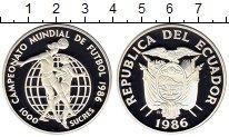 Изображение Монеты Эквадор 1000 сукре 1986 Серебро Proof-