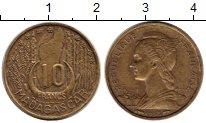 Изображение Монеты Мадагаскар 10 франков 1953 Латунь XF