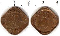 Изображение Монеты Индия 1/2 анны 1944 Латунь VF