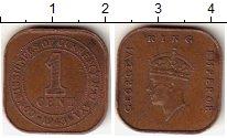 Изображение Монеты Великобритания Малайя 1 цент 1943 Бронза VF