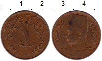 Изображение Монеты Египет 1 миллим 1938 Бронза XF-