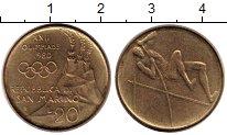 Изображение Монеты Сан-Марино 20 лир 1980 Латунь XF-