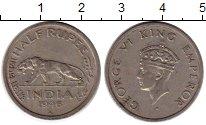 Изображение Монеты Индия 1/2 рупии 1946 Медно-никель XF-