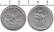 Изображение Монеты Франция Новая Каледония 2 франка 1973 Алюминий XF