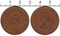 Изображение Монеты Маврикий 5 центов 1966 Бронза XF
