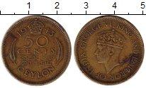Изображение Монеты Шри-Ланка Цейлон 50 центов 1943 Латунь VF