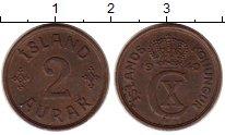 Изображение Монеты Исландия 2 аурар 1940 Бронза XF