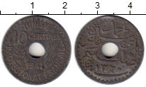 Изображение Монеты Тунис 10 сантим 1941 Цинк XF