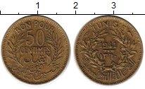 Изображение Монеты Тунис 50 сантим 1941 Латунь VF
