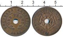 Изображение Монеты Великобритания Родезия 1 пенни 1943 Бронза XF