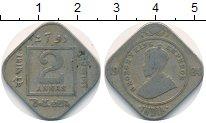Изображение Монеты Индия 2 анны 1924 Медно-никель VF