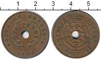 Изображение Монеты Родезия 1 пенни 1944 Бронза XF