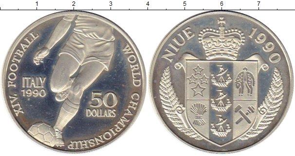 Картинка Монеты Ниуэ 50 долларов Серебро 1990