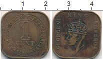 Изображение Монеты Малайя 1 цент 1940 Бронза VF