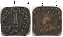 Изображение Монеты Великобритания Малайя 1 цент 1920 Бронза VF