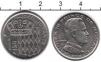 Изображение Монеты Монако 1 франк 1968 Медно-никель UNC-