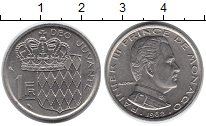 Изображение Монеты Монако 1 франк 1968 Медно-никель XF