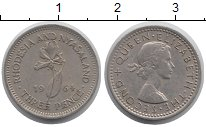 Изображение Монеты Великобритания Родезия 3 пенса 1964 Медно-никель XF