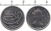 Изображение Монеты Каймановы острова 10 центов 1992 Медно-никель XF