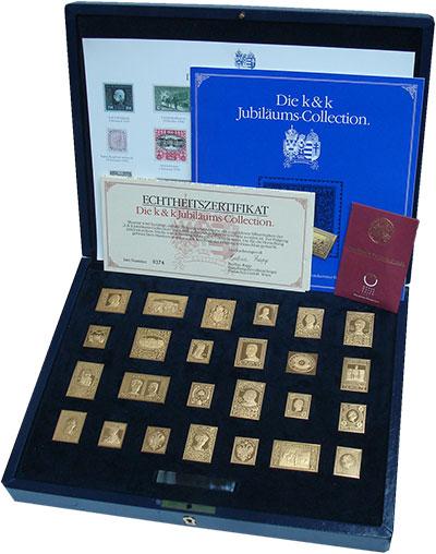 Изображение Подарочные монеты Австрия Почтовые марки в серебре 0 Серебро Proof Реплики почтовых мар