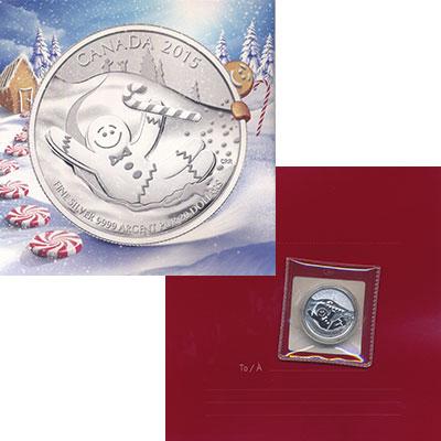 Изображение Подарочные монеты Канада 20 долларов 2015 Серебро UNC Прянечный человечек.
