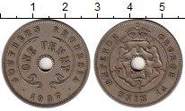 Изображение Монеты Родезия 1 пенни 1937 Медно-никель XF