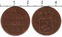 Изображение Монеты Нидерландская Индия 1/4 стивера 1826 Медь VF