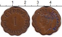 Изображение Монеты Кипр 1 пиастр 1944 Бронза XF