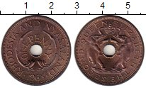 Изображение Монеты Великобритания Родезия 1 пенни 1965 Бронза UNC-