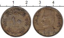 Изображение Монеты Египет 10 миллим 1938 Медно-никель VF