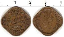 Изображение Монеты Индия 1/2 анны 1943 Бронза VF
