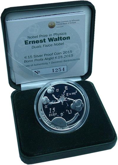 Изображение Подарочные монеты Ирландия 15 евро 2015 Серебро Proof Монета  посвящена  Н