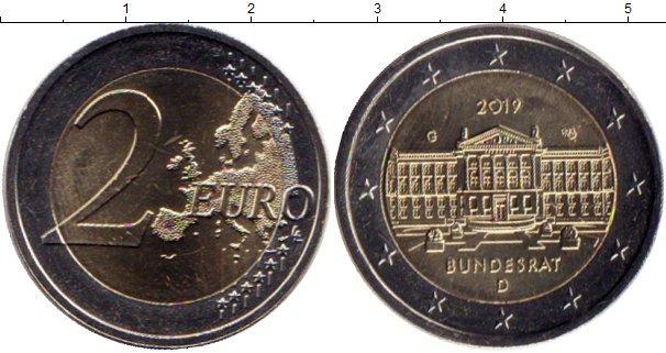 Картинка Мелочь Германия 2 евро Биметалл 2019