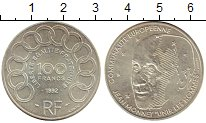 Изображение Монеты Франция 100 франков 1992 Серебро XF