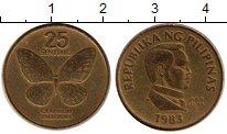 Изображение Монеты Филиппины 25 сентим 1983 Латунь XF