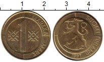 Изображение Монеты Финляндия 1 марка 1997 Латунь XF