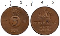 Изображение Монеты Швеция 5 эре 1967 Бронза XF