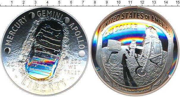 Картинка Подарочные монеты США 1 доллар Серебро 2019