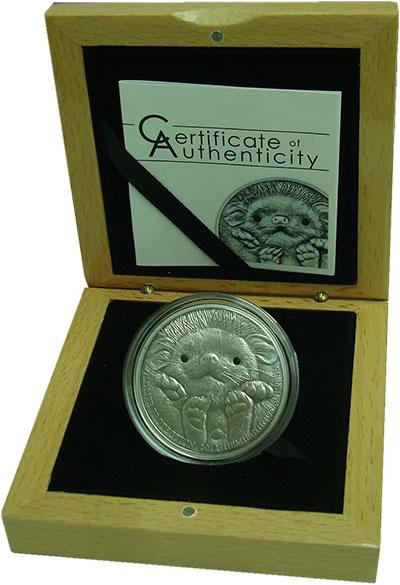 Изображение Подарочные монеты Монголия 500 тугриков 2012 Серебро UNC