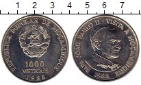 Изображение Монеты Мозамбик 1000 метикаль 1988 Медно-никель XF