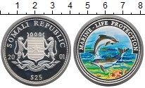 Изображение Монеты Сомали 25 долларов 2001 Серебро Proof
