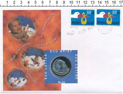 Изображение Подарочные монеты Нидерланды 1 экю 1997 Медно-никель UNC Рождение ребенка.<b