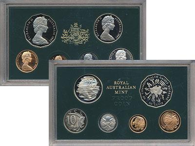 Изображение Подарочные монеты Австралия Игры содружества 1982  Proof В набор входит 1,2 ц