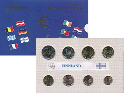 Изображение Подарочные монеты Финляндия Евронабор 2002 года 2002  UNC В наборе 8 монет ном
