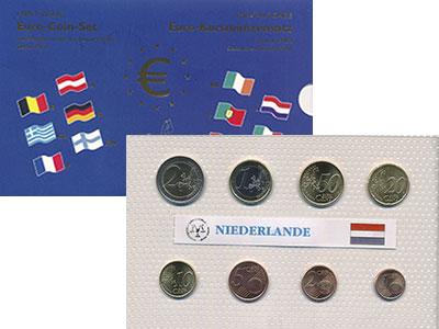 Изображение Подарочные монеты Нидерланды Евронабор 2002 года 2002  UNC Представляем Вашему